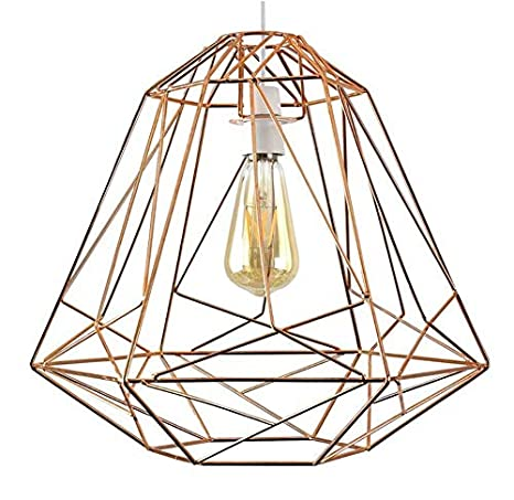 Lámpara de pared estilo geométrico Cobre Metal Cesta Jaula Techo ...