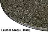 LCM Table Cloth Round 36'' to 48'' Elastic Edge Fitted Vinyl Table Cover Black Granite Satin Finish
