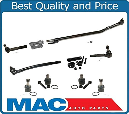 99-04 Excursion F250 F350 Super REAR WHEEL DRIVE Drag Link & Tie Rod Rods 10Pc by Mac Auto Parts
