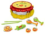 fisher price maracas - Fisher Price Music - Drum Set - Musical Band Drum Set - Lion - Comes with Drum, Sticks, Recorder, Tambourine, Whistle, Castanets, and Maracas - Great for Kids Play & Early Learning