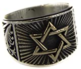 Sterling silver men ring handmade, Seal of Solomon Ring, Express Shipping