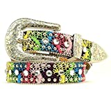Nocona Girl's Multi Color Rhinestones Belt, Multi Color, 28