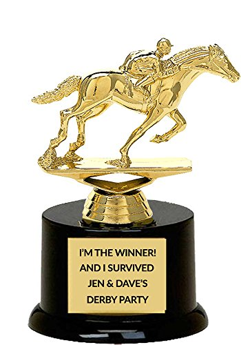 Race Horse Trophy - Gold Jockey on Horse Figure Trophy (Gold Trophy Figure)