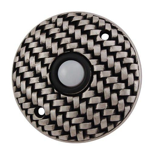 (Vicenza Designs D4010 Cestino Round Style Doorbell, Antique Nickel)