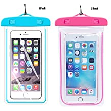 1Pack Blue+2Pack pink Universal Waterproof Phone Case Dry Bag CaseHQ for iPhone 4/5/6/6s/6plus/6splus Samsung Galaxy s3/s4/s5/s6 etc. Waterproof, Snow Proof Pouch for Cell Phone up to 5.7 inches?
