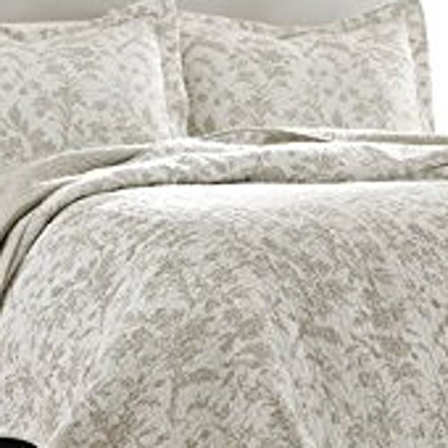 Laura Ashley Amberley Bisquit Reversible Quilt Set, King