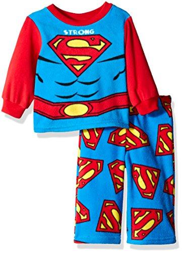 DC Comics Boys' Superman 2-Piece Fleece Pajama Set