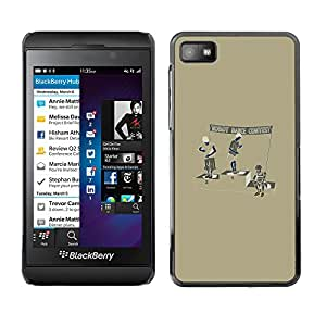 Jordan Colourful Shop - Robot Dance Contest For Blackberry Z10 - Personalizado negro cubierta de la caja de pl??stico -