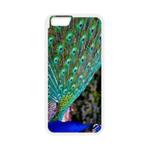 """WJHSSB Cover Shell Phone Case Peacock For iPhone 6 Plus (5.5"""")"""