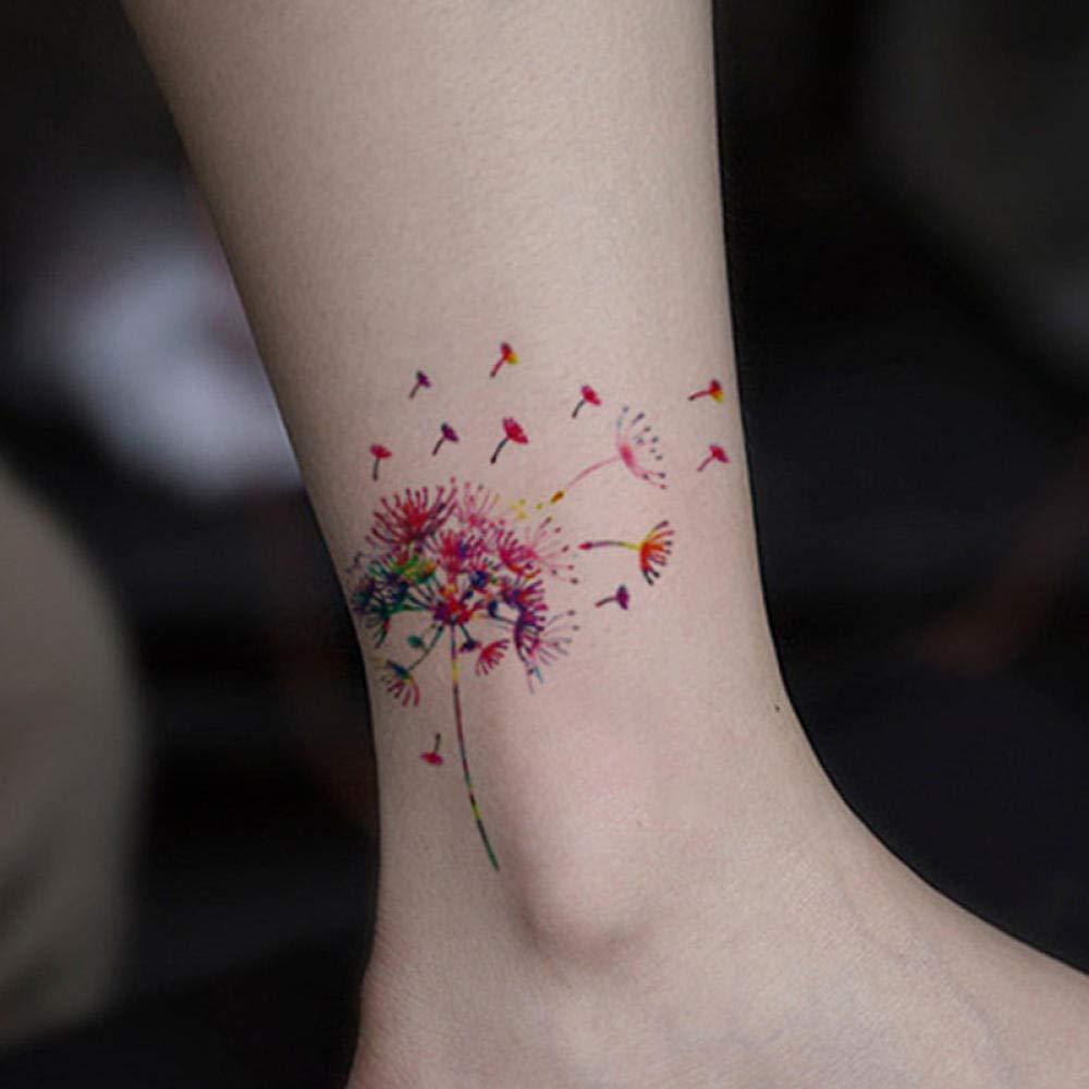 Etiqueta engomada del tatuaje impermeable diente de león tatuaje ...