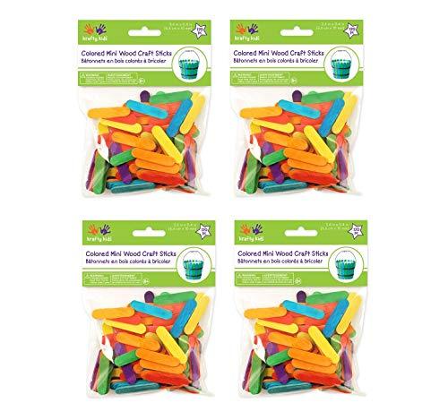 Mini Craft Sticks-Colored 1.5'' 120/Pkg (Вundlе оf Fоur) by Multicraft Imports (Image #2)