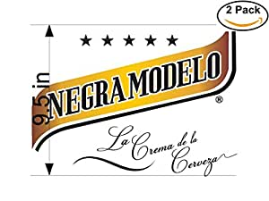 amazon com negra modelo beer logo alcohol 2 vinyl stickers decal
