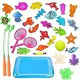 Aelove Children Bath Toy Fishing Game Fishing Toys Set Education Pretend Play Fun Travel Games