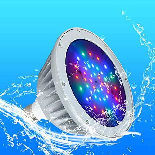 Britelumen LED Pool Light, 120V 40W Color Changing Bulb, IP65 Waterproof, Replacement for Pentair Fixtures(120V-RGB)