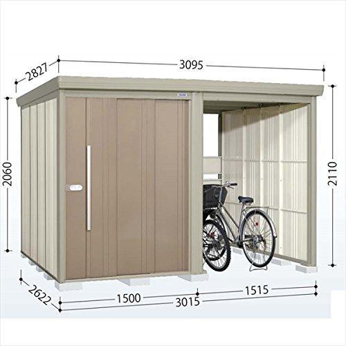 タクボ物置 TP/ストックマンプラスアルファ TP-Z3026 一般型 結露減少屋根 『駐輪スペース付 屋外用 物置 自転車収納 におすすめ』 カーボンブラウン B00V5KZB0I