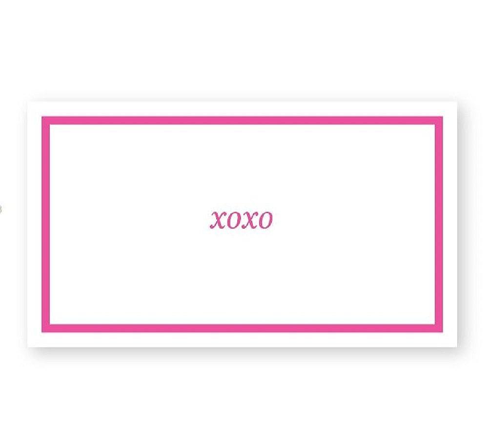 XOXO Simple Border Gift CARD Enclosures