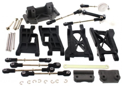 r 2.5 * FRONT & REAR ARMS TIE RODS TURNBUCKLES SERVO SAVER * ()