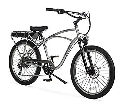 "Pedego Interceptor 26"" Platinum Classic Bar with Black Balloon Package 48V 15Ah"