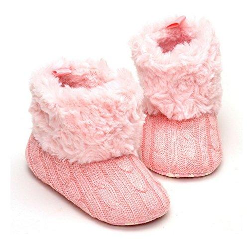honeysuck moda bebé niñas pelo invierno cálido nieve Knit suave Cuna Zapatos Botas