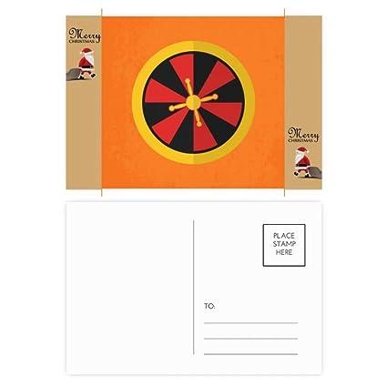 Cartulina de Papá Noel con ilustración de casino y ...