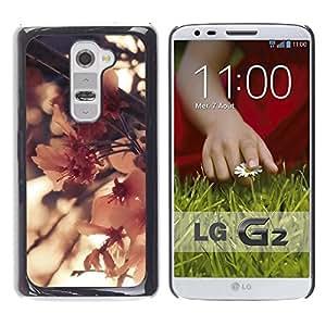 """Pulsar Snap-on Series Teléfono Carcasa Funda Case Caso para LG G2 , Floración de la flor del árbol de la naturaleza de primavera"""""""