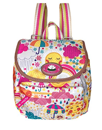 f91ff1d3513b Lily Bloom Mini Backpack Colorful, Eco Friendly (SPRING SHOWERS)
