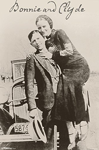 """Trends International 24x36 Bonnie and Clyde Premium Wall Poster, 22.375"""" x 34"""""""