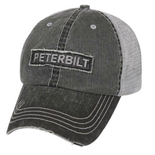 Peterbilt Motors Raw Edge Patch Mesh Cap
