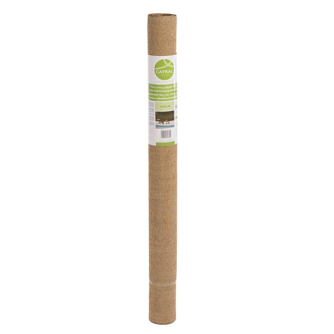 Catral 53010052 –  Mini-Rollo rete ombreggiante frangivista Total, 100 x 1000 x 4 cm, colore: canna 100x 1000x 4cm
