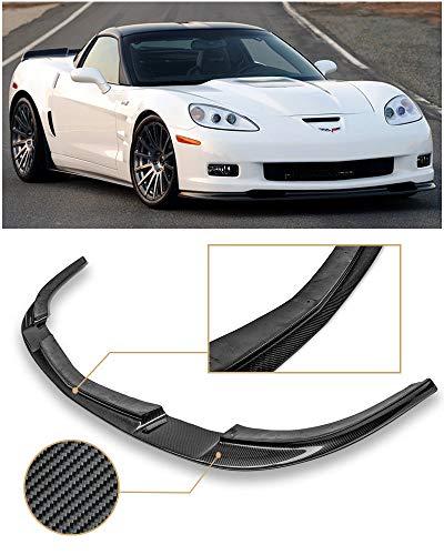 - Extreme Online Store EOS ZR1 Style Carbon Fiber Front Bumper Lower Lip Splitter for 2005-2013 Chevrolet Corvette C6 Wide Body Models