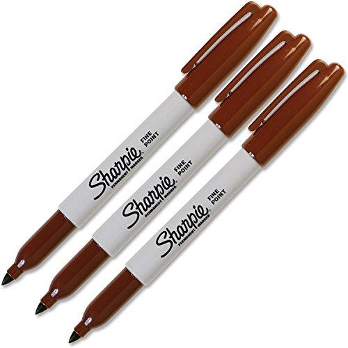 Sharpie Fine Point Brown Original Permanent Marker (3-Each)