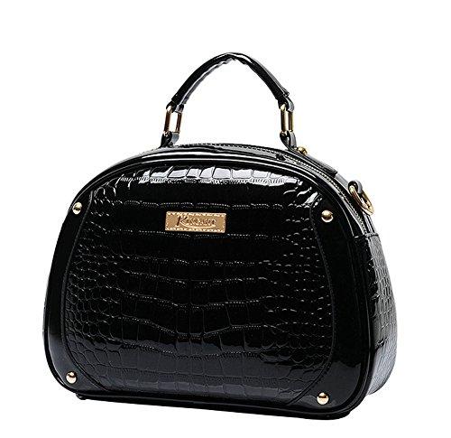 Leather Pattern Maniglia Snake A Pu amp; Womens nera N qwHR6Ix06Y