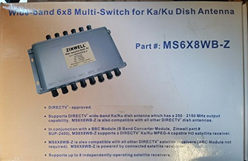 DirectTV Approved - Zinwell Wide-band 6x8 Multi-Switch for Ka/Ku Dish Antenna #MS6X8WB-Z