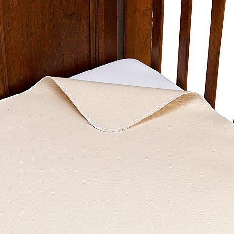 Naturepedic Organic Cotton Waterproof Flat Crib Pad Cover
