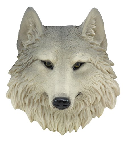 Ebros Grey Wind Direwolf Gray Wolf Mini Wall Decor Timber Wolf Canis Lupus Mini Wall Plaque Bust Sculpture Woodlands Rustic Nature Lovers - Wall Face Sculpture