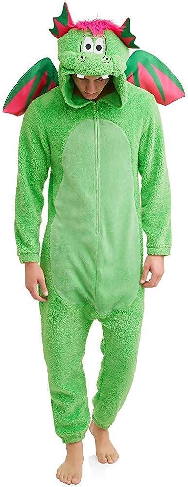 Men's Don't Poke The Dragon Union Suit One Piece Pajama Set