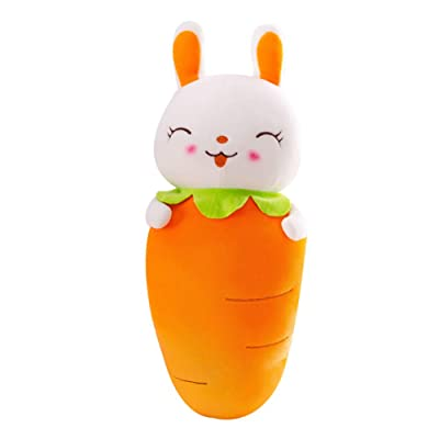 Toy Pillow Super Soft Carrot Rabbit Pillow Sofa Living Room Bedroom Car Decoration Filled Toys Birthday Gift,90cm: Home & Kitchen