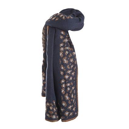LILICAT❋ Moda otoño e Invierno Chal de Bufanda de Cachemira de imitación de Leopardo Grueso