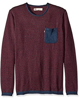 Men's Willard Light Weight Sweater with Rolled Hem and Collar
