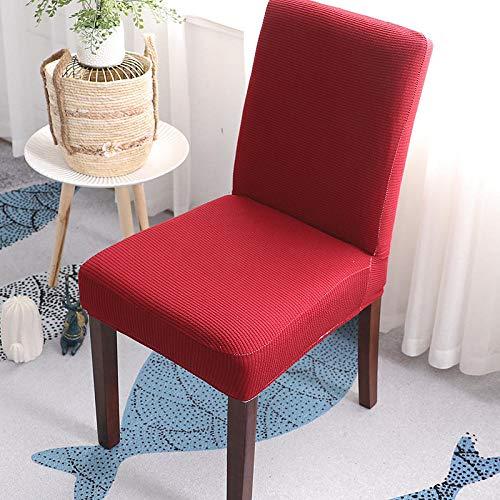 Cxypeng Fundas para sillas de Comedor, Funda General para Silla super elastica, Mesa de Comedor del Hotel y Funda de cojin para Silla-Red_2 Piezas, para Comedor, Cocina, Boda