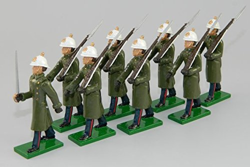 British Toy Soldier Company BTS43 Royal Marines with Officer in Greatcoats, Rifle at Slope