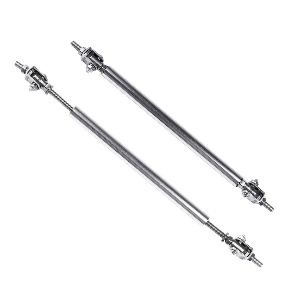 ROADFAR 2x Sliver Universal Adjustable Bumper Lip Diffuser Splitter Rod Strut Tie Bar 3.94-9