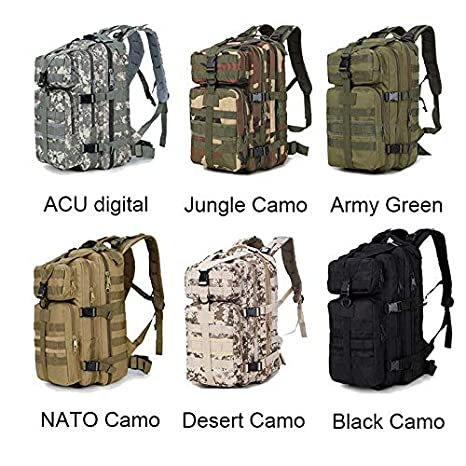 Amazon.com: 35L Army Men Military Backpack Camouflage Travel Trekking Rucksack Bag Schoolbags ACU NATO Waterproof Camuflaje DT-106: Kitchen & Dining