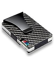 Kyson Slim Carbon Fiber Credit Card Holder RFID Blocking Metal Wallet Money Clip Case