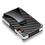 Slim Carbon Fiber Credit Card Holder Blocking Metal Wallet Money Clip Case - Outdoor Bag Travel & Storage Bags - 1 x Credit Card Holder