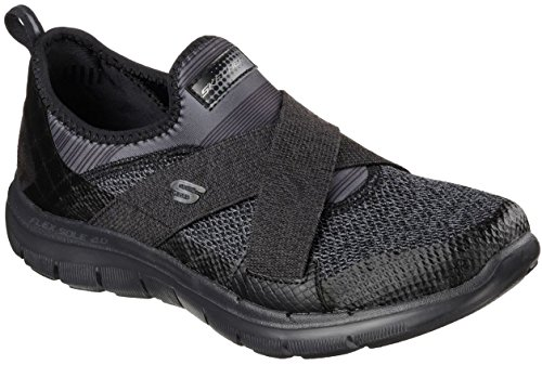 Skechers Flex 2.0 Appeal Nuevo Image Pink Mujeres Negro Trainers Zapatos