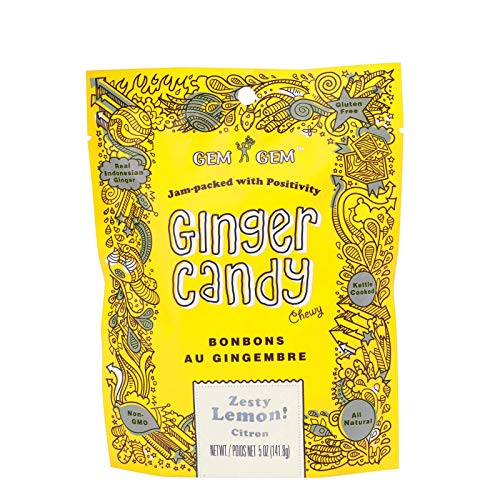 GEM GEM Ginger Lemon Candy, 100 GR