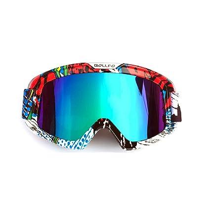 b014edc7e0 LBWNB Gafas de Moto-Gafas de Motocross para Casco Niebla a Prueba de Viento  Montar