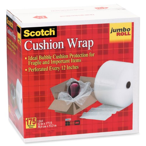 Scotch Bubble Wrap - Scotch Cushion Wrap w/Dispensered Box, 12 Inches x 175 Feet (7953)
