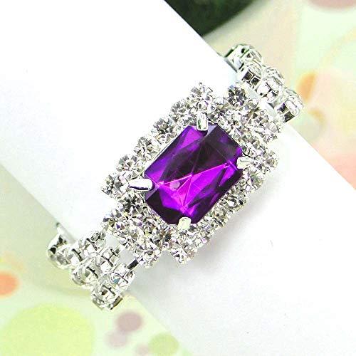 sweet love nakin Napkin Ring 12pcs/lot Royal Blue Fuchsia Purple Color Wedding Banquet Dinner Decor Silver Hoops White Diamante Napkin Ring Serviette Holder
